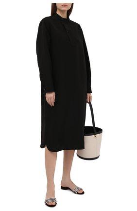 Женские замшевые шлепанцы ALEXANDRE VAUTHIER черного цвета, арт. SALMAFLATCRY | Фото 2