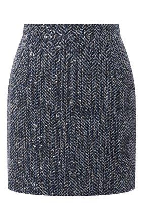 Женская юбка ALESSANDRA RICH синего цвета, арт. FAB1441-F3188 | Фото 1