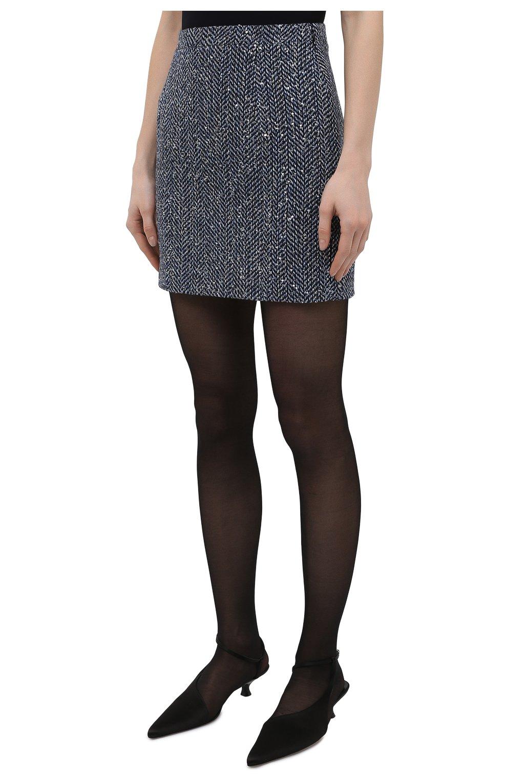 Женская юбка ALESSANDRA RICH синего цвета, арт. FAB1441-F3188 | Фото 3