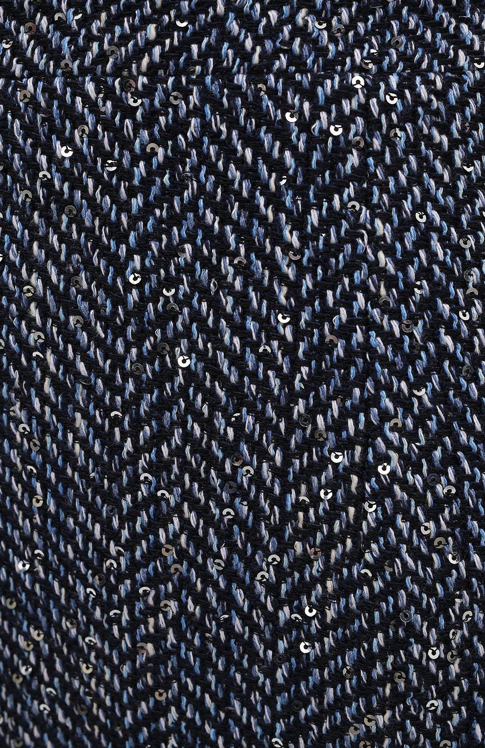 Женская юбка ALESSANDRA RICH синего цвета, арт. FAB1441-F3188 | Фото 5