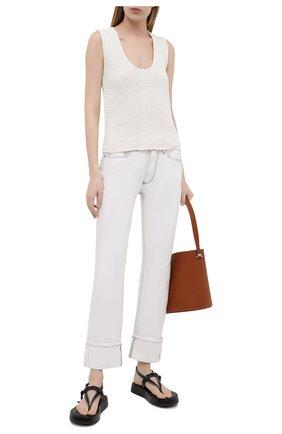 Женские джинсы BURBERRY белого цвета, арт. 8039282 | Фото 2