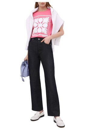 Женская хлопковая футболка REDVALENTINO светло-розового цвета, арт. VR0MG10M/5VW   Фото 2