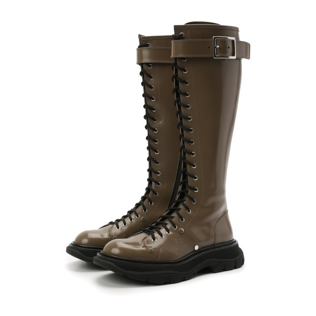 Кожаные сапоги Alexander McQueen