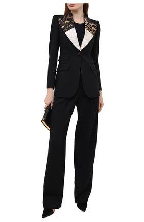 Женский шерстяной жакет DOLCE & GABBANA черного цвета, арт. F29D0T/GDZ43 | Фото 2