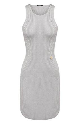 Женское платье из вискозы BALMAIN светло-серого цвета, арт. VF0R4040/K252   Фото 1