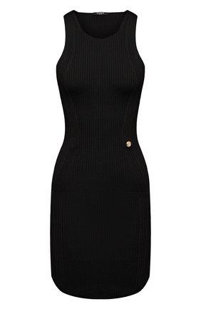 Женское платье из вискозы BALMAIN черного цвета, арт. VF0R4040/K252 | Фото 1