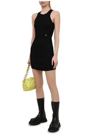 Женское платье из вискозы BALMAIN черного цвета, арт. VF0R4040/K252 | Фото 2