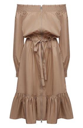 Женское хлопковое платье MONCLER бежевого цвета, арт. G1-093-2G710-10-54012   Фото 1