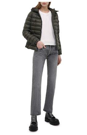 Женская пуховая куртка bles MONCLER хаки цвета, арт. G1-093-1A128-00-5396Q | Фото 2