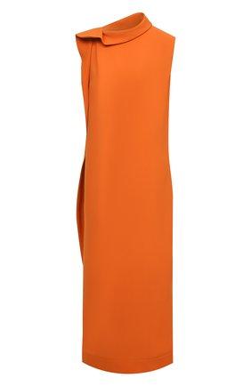 Женское шелковое платье VALENTINO оранжевого цвета, арт. VB0VAVE16B0   Фото 1