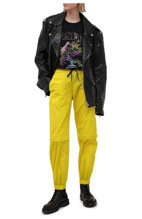 Женские джоггеры MSGM желтого цвета, арт. 3042MDP112 217305 | Фото 2