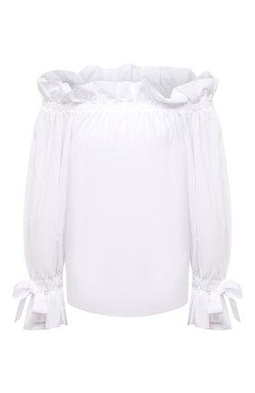 Женский хлопковый топ SARA ROKA белого цвета, арт. ISIDE/02-S21 | Фото 1