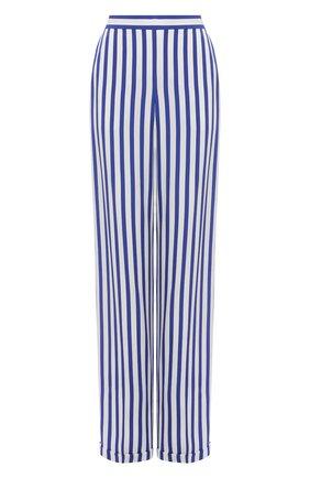 Женские шелковые брюки RALPH LAUREN синего цвета, арт. 290844001 | Фото 1