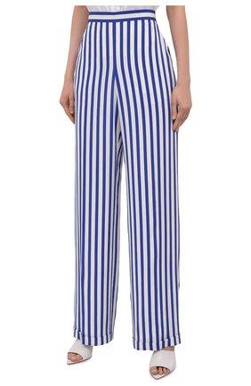 Женские шелковые брюки RALPH LAUREN синего цвета, арт. 290844001   Фото 3