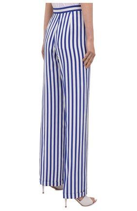 Женские шелковые брюки RALPH LAUREN синего цвета, арт. 290844001   Фото 4