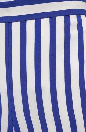 Женские шелковые брюки RALPH LAUREN синего цвета, арт. 290844001   Фото 5