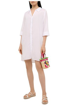 Женские кожаные сандалии TOD'S белого цвета, арт. XXW09F0EI50NB6 | Фото 2