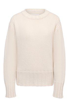 Женский кашемировый свитер JIL SANDER светло-бежевого цвета, арт. JPPS759521-WSY10028 | Фото 1 (Рукава: Длинные; Длина (для топов): Стандартные; Стили: Кэжуэл; Материал внешний: Шерсть, Кашемир; Женское Кросс-КТ: Свитер-одежда)