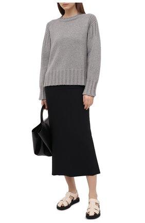Женский кашемировый свитер JIL SANDER серого цвета, арт. JPPS759521-WSY10028   Фото 2