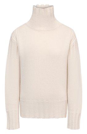 Женский кашемировый свитер JIL SANDER светло-бежевого цвета, арт. JPPS759520-WSY10028 | Фото 1