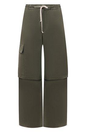 Женские хлопковые брюки JIL SANDER хаки цвета, арт. JPPS310705-WS242600 | Фото 1