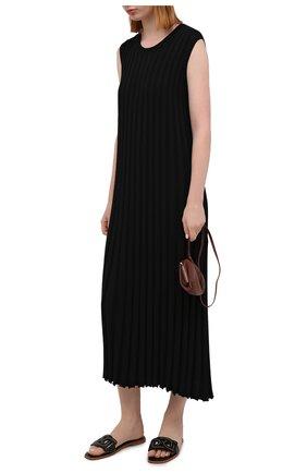 Женское платье из вискозы JOSEPH черного цвета, арт. JF005332 | Фото 2
