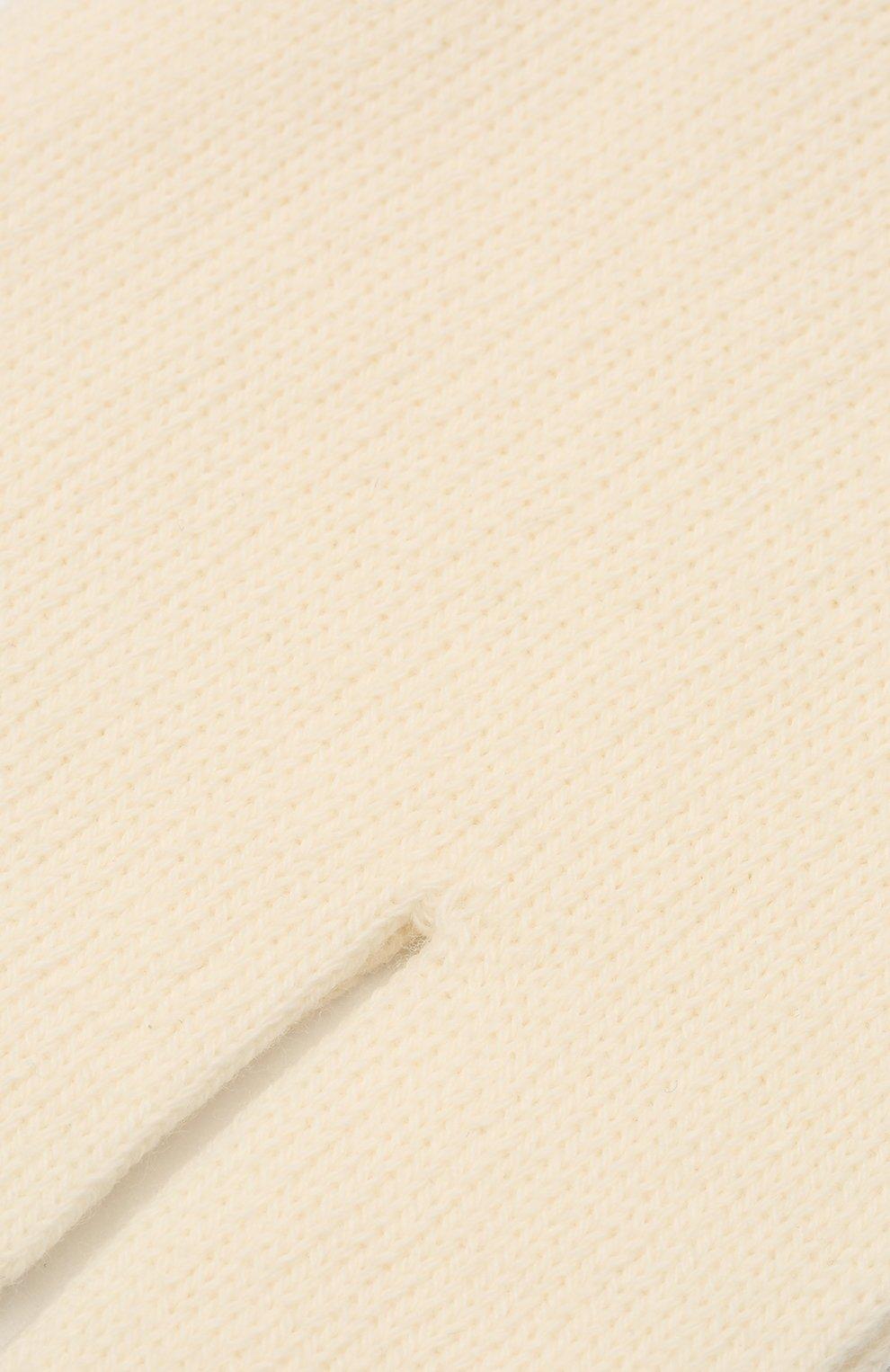 Женские хлопковые носки MAISON MARGIELA светло-бежевого цвета, арт. S51TL0042/S17264 | Фото 2
