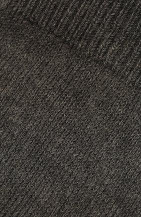 Женские хлопковые носки MAISON MARGIELA темно-серого цвета, арт. S51TL0042/S17264 | Фото 2