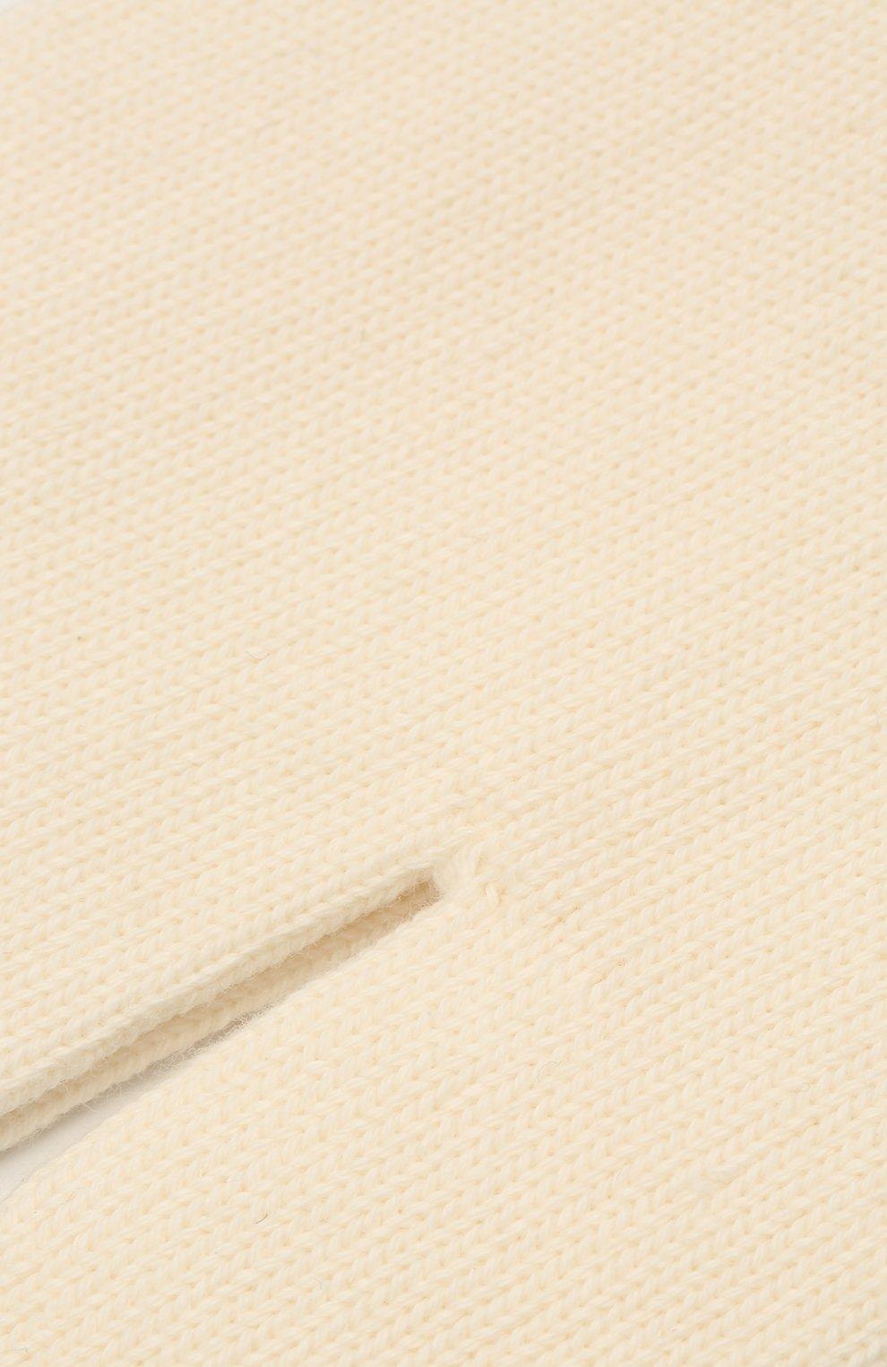 Женские хлопковые носки MAISON MARGIELA светло-бежевого цвета, арт. S51TL0044/S17710   Фото 2
