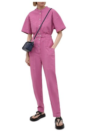 Женский комбинезон из льна и хлопка ISABEL MARANT розового цвета, арт. CB0316-21E012I/ETUNDRA | Фото 2
