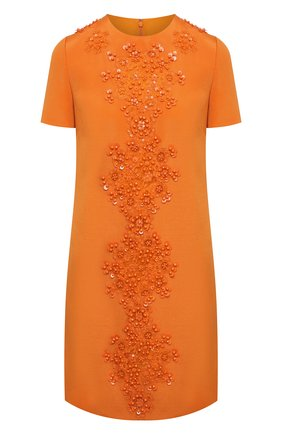Женское платье из шерсти и шелка VALENTINO оранжевого цвета, арт. VB0VAVH46BS | Фото 1