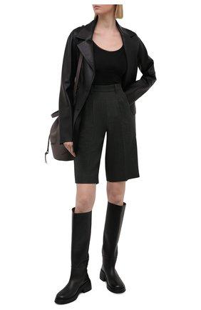 Женское боди из вискозы GANNI черного цвета, арт. A2619 | Фото 2