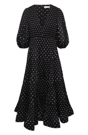 Женское платье ZIMMERMANN черно-белого цвета, арт. 1212DRB0T   Фото 1