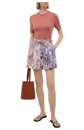 Женские шелковые шорты ZIMMERMANN разноцветного цвета, арт. 1234AB0T | Фото 2