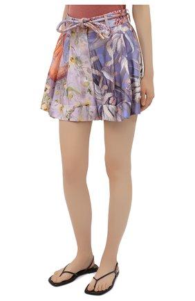 Женские шелковые шорты ZIMMERMANN разноцветного цвета, арт. 1234AB0T   Фото 3