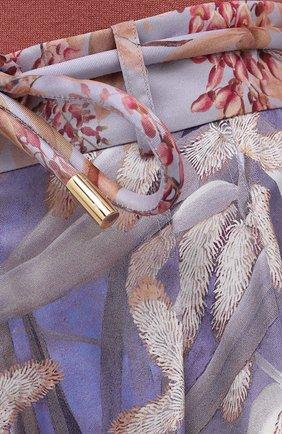 Женские шелковые шорты ZIMMERMANN разноцветного цвета, арт. 1234AB0T   Фото 5