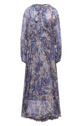 Женское шелковое платье ZIMMERMANN сиреневого цвета, арт. 1239DB0T | Фото 1