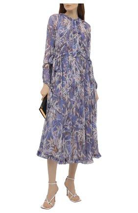 Женское шелковое платье ZIMMERMANN сиреневого цвета, арт. 1239DB0T | Фото 2