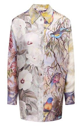 Женская шелковая рубашка ZIMMERMANN разноцветного цвета, арт. 1690TB0T   Фото 1
