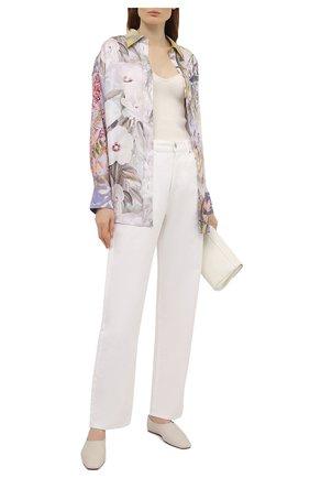 Женская шелковая рубашка ZIMMERMANN разноцветного цвета, арт. 1690TB0T   Фото 2