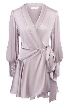 Женское шелковое платье ZIMMERMANN сиреневого цвета, арт. 8067DRB0T | Фото 1