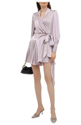 Женское шелковое платье ZIMMERMANN сиреневого цвета, арт. 8067DRB0T | Фото 2