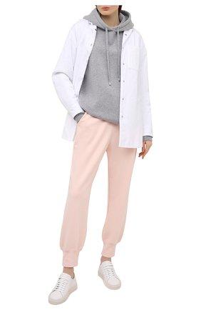 Женские хлопковые джоггеры ZIMMERMANN розового цвета, арт. 8232PB0T   Фото 2