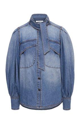 Женская джинсовая рубашка ZIMMERMANN голубого цвета, арт. 9159TB0T   Фото 1