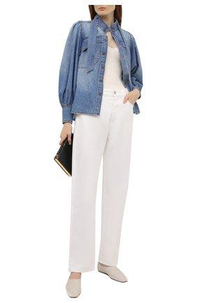 Женская джинсовая рубашка ZIMMERMANN голубого цвета, арт. 9159TB0T   Фото 2