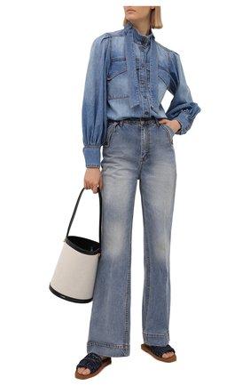 Женские джинсы ZIMMERMANN голубого цвета, арт. 9239PB0T   Фото 2
