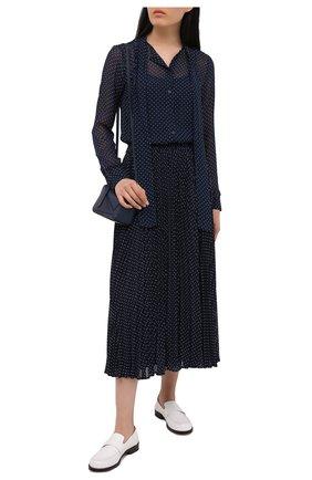 Женская плиссированная юбка MICHAEL MICHAEL KORS синего цвета, арт. MS17F1R259 | Фото 2