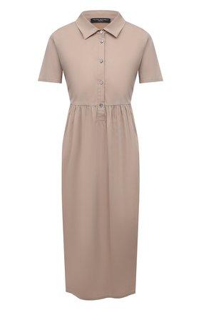 Женское хлопковое платье PIETRO BRUNELLI бежевого цвета, арт. AG0435/LG/C0P319 | Фото 1