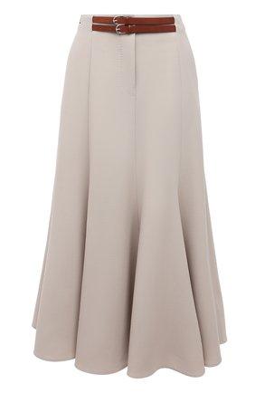 Женская шерстяная юбка GABRIELA HEARST кремвого цвета, арт. 221304 W026 | Фото 1
