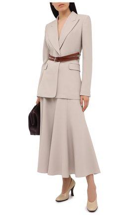 Женская шерстяная юбка GABRIELA HEARST кремвого цвета, арт. 221304 W026 | Фото 2
